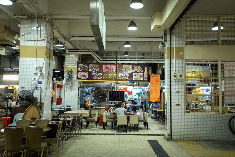 View of store in city