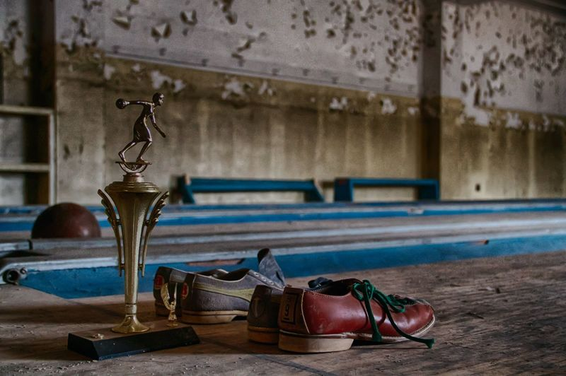 EyeEmBestPics EyeEm Best Shots Abandoned Abandoned Places Abandoned Buildings Psychiatric Hospital Peeling Paint Bowling Shoes Bowling Alley Bowling