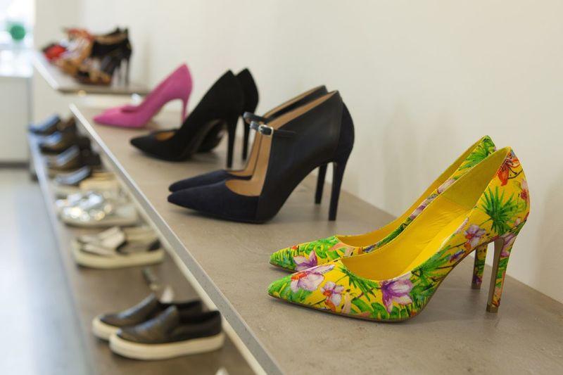 High Heels On Shelf At Shore