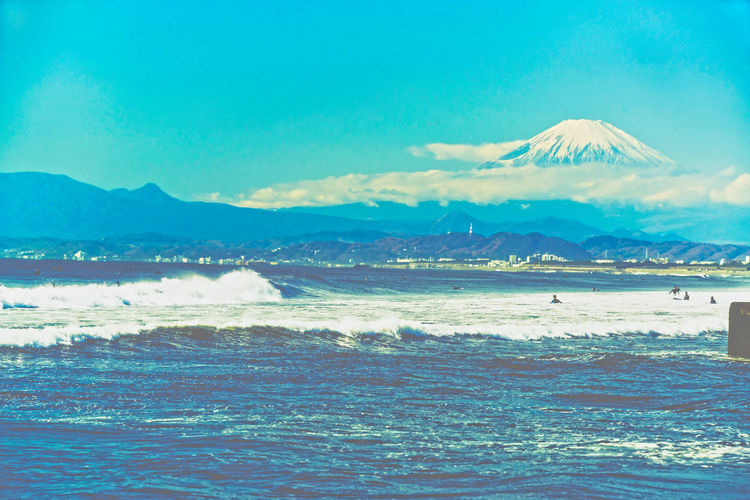 EyeEm Nature Lover EyeEm Best Shots SeaScapePhotography Fugaku36vews Great Wave Greatwave Kanagawa Hokusai Mt.Fuji Japan Photography Beauty In Nature Fujiyama Horizon Over Water Mt.Fuji Sea Seascape Shore View Volcano Wave Beach Water Nature Mountain