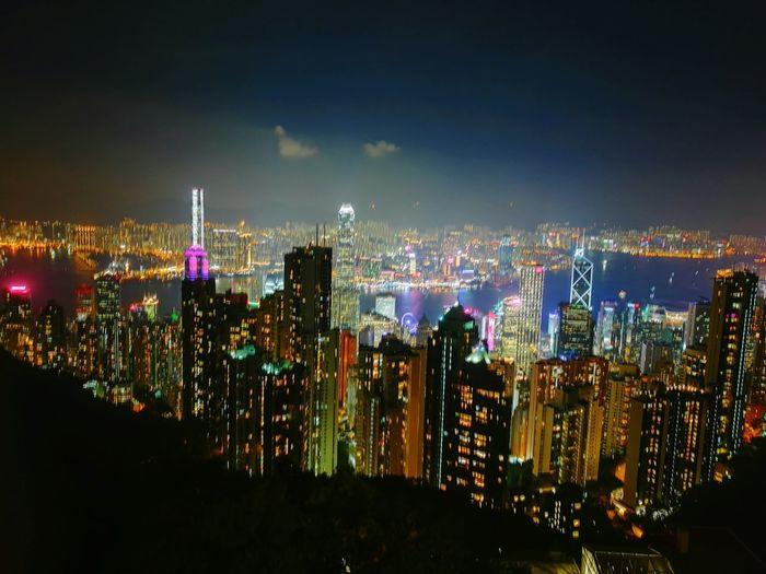 Night view from The Peak Hong Kong Hong Kong Hong Kong City Nightshot The Peak Night First Eyeem Photo Colour Of Life My Year My View