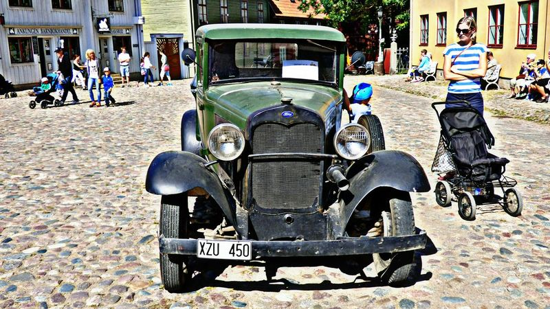 Old Truck Old Ford Sweden From My Point Of View HDRphoto Taking Photos Old Town Old Car