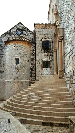 Building Exterior Built Structure Architecture The Past Spooky History No People Cloud - Sky Outdoors Old Ruin Sky Close-up Day Bird Kroatia Dubrovnik, Croatia Architecture One Animal Walking
