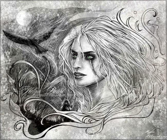 2017 Art Ciri Cirilla Fantasy Girl Sapkowski Thewitcher Thewitcher3
