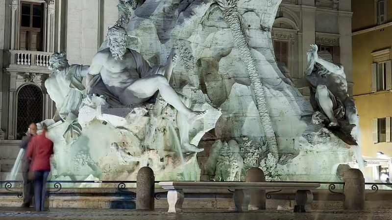 Tranquility Colour Photography City Life In The Night Illuminated Architecture_collection Fountain Ancient Civilizations City Rome Italy🇮🇹 Rome, Italy Sculpture Piazza Navona Statue Travel Destinations Statue Tourism Architecture Moving Around Rome