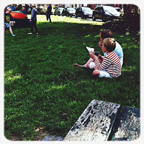 Children Relaxing Streetphotography Park