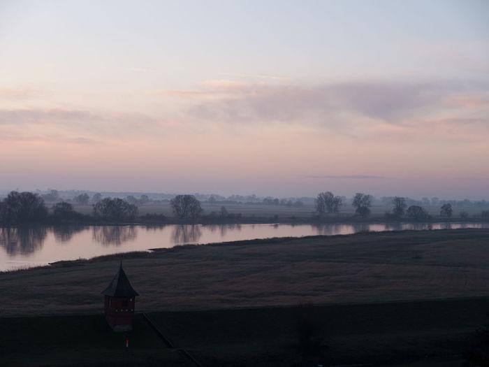 Sunset Elbe