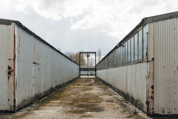 View of metal bridge against sky
