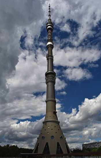 Moscow City Ostankinotvtower Architecture Building Exterior Built Structure City Cloud - Sky Day Low Angle View No People Ostankino Sky Spire  Tall - High Tower