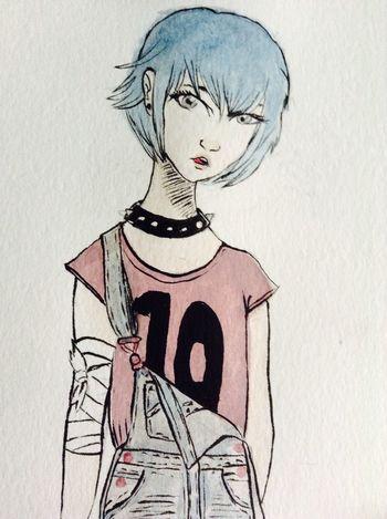 10 Watercolor Girl Doodle Punk Ilustration Art Style