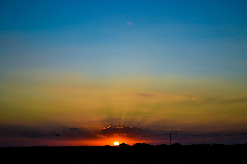 Photo by Cooper Billington in Oklahoma City, Oklahoma #openplains #photography Beauty In Nature Landscape Outdoors Sky Sunset