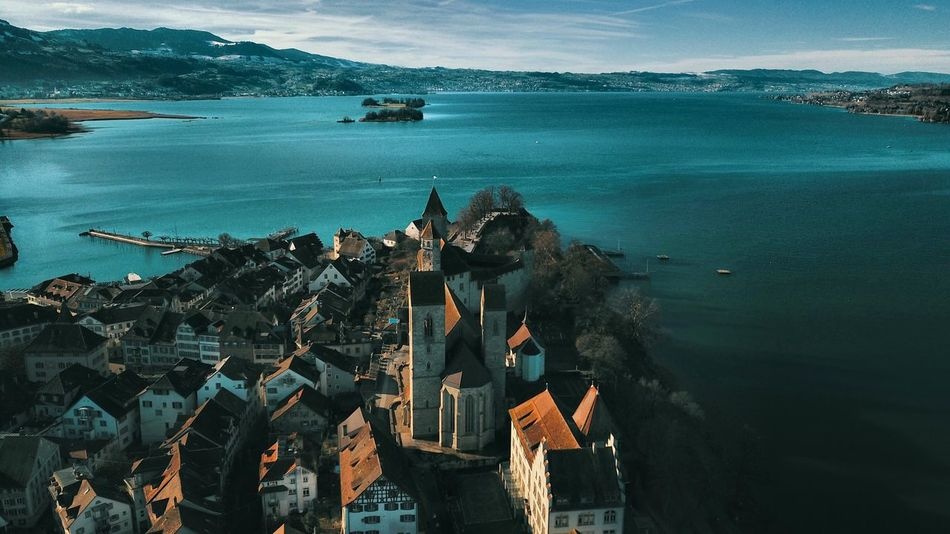 Schloss Castel Swiss Schweiz Zürichsee Zürisee Rapperswil Schloss Rapperswil Drone Photography Mavicpro Droneoftheday Happy New Year Sea Nautical Vessel Mountain Water Harbor Ship Outdoors Nature Sky Architecture Travel Destinations Built Structure Building Exterior Horizon Over Water Tall Ship City Sailing Ship