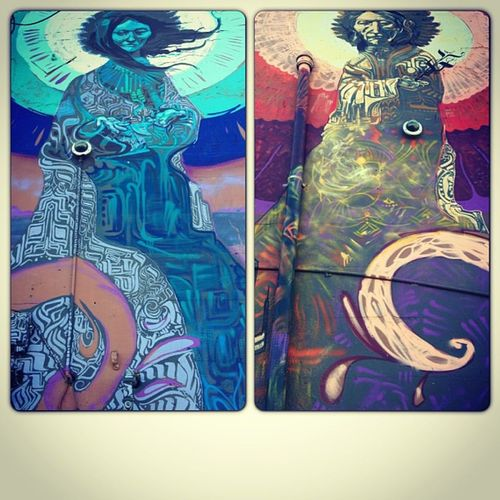 Murals at 9 Lives in Gilroy California InstaFrame
