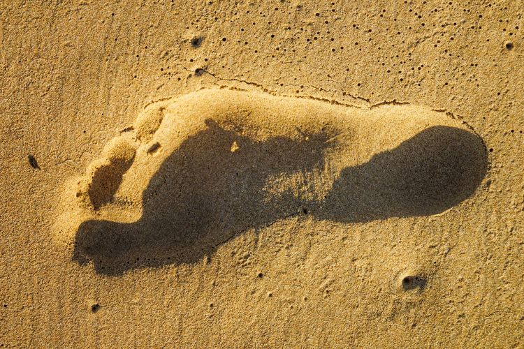 footprint Backgrounds Beach Close-up Creativity Day Emotion Focus On Shadow Heart Shape High Angle View Land Nature No People Outdoors Sand Shadow Sunlight Textured  Wall - Building Feature