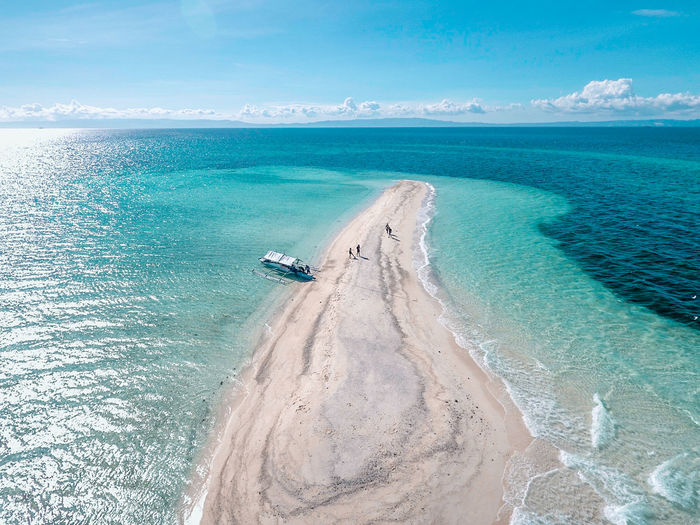 Aerial View Beach Beauty In Nature Blue Cloud - Sky Day Eyeem Philippines High Angle View Horizon Over Water Nature Outdoors Sand Scenics Sea Sky Water Lost In The Landscape
