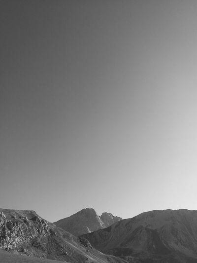 Gran Sasso Montagna Campo Imperatore Abruzzo Mountain Sky Mountain Range Landscape Tranquility Rocky Mountains Non-urban Scene