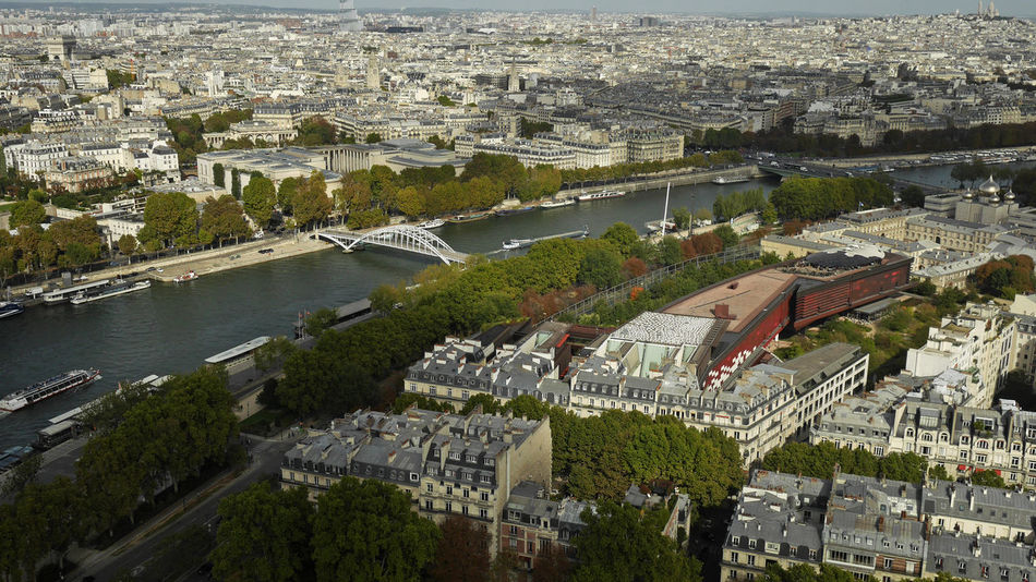 Overview from Eiffel Tower OverviewPoint Paris Seine River Banks Aerial View Architecture Building Exterior Built Structure City Cityscape Day Effiel Tower High Angle View No People Outdoors River Sky Tree Water