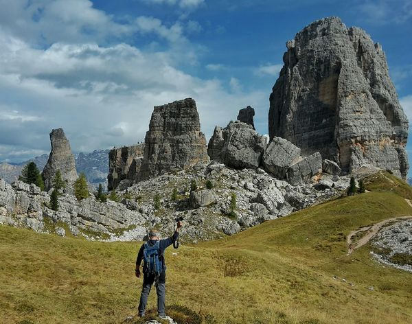 Naturalmonument Mountains Fantastic_earth Fantastic Landscape Trekking Nature Love EyeEm Nature Lover Tourist Attraction  Italy Nature One Person One Man Only Rocks Landscape Travel Tranquility Mountain Paisaje Nature_collection Calm Autumn TrekkingDay Montañas❤ Adventure Travel Destinations Südtirol Italy Relaxing Awesome_view Scenics EyeEm Gallery Rock Formation Cinquetorri Dolomiti Italy Photographer