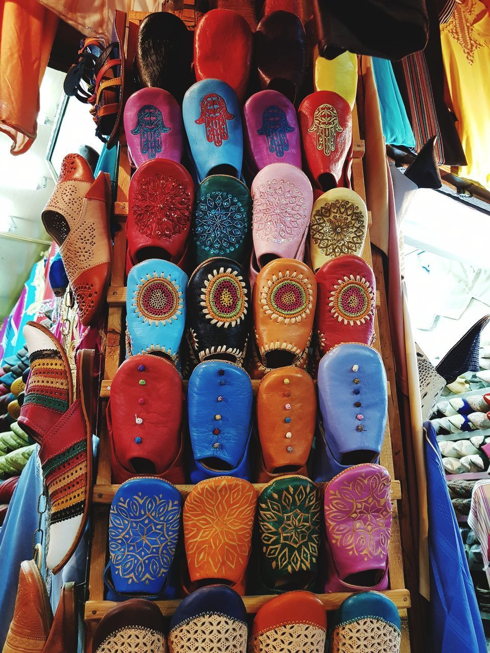 COLORFUL FOR SALE AT MARKET STALL