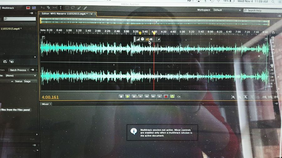 Doing what I love- editing. Adobe Audition Editing Wimberley TX Radio Station
