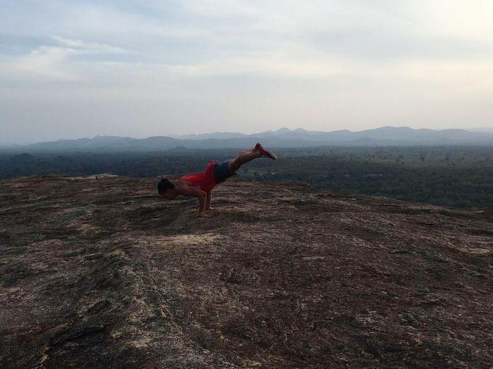 Calisthenics Nature Travel Sri Lanka Sigiriya, Sri Lanka,Asia,Travel,Explore, Traveler, Lion Rock, Planche