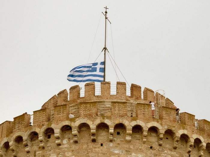 White Tower in Thessaloniki Greece Architecture Built Structure Building Exterior Travel Destinations History The Past Sky Travel Building Day Clear Sky Ancient