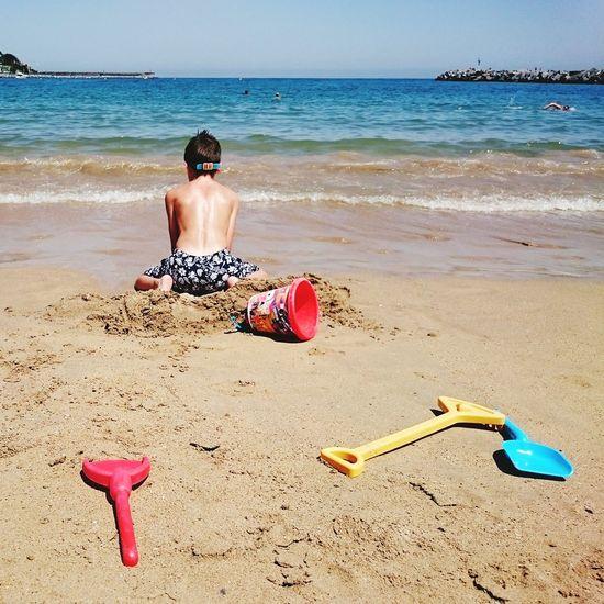 XperiaZ3 Enjoying The Sun Sandcastles Beach Playa Mobilephotography