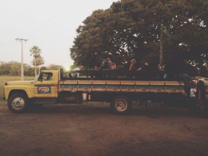 Truck Tourists Unloading