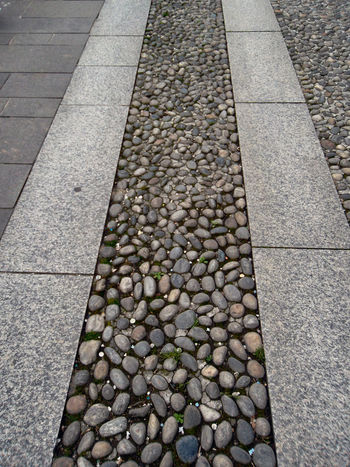 Backgrounds Day Footpath Full Frame High Angle View No People Outdoors Pattern Paving Stone Street Textured  Textures And Surfaces Texture Stones Small Stone Rounded By The Flow Of Water Cobblestone Sidewalk Pavement Showcase April