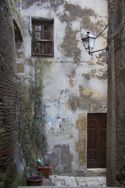 Pitigliano Italy Architecture Building Building Exterior Built Structure Door Electric Lamp Entrance House No People Old Wall - Building Feature Window