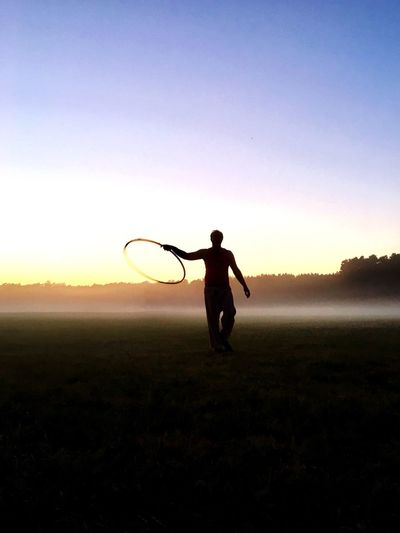 Sunset Silhouette Hullahoop Outdoors Nature Campinglife Sommergefühle Fresh On Market 2017