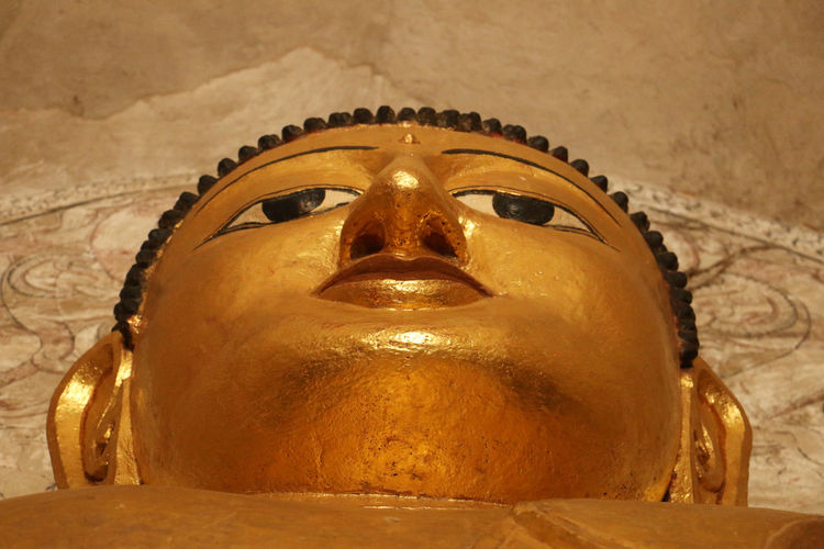 The Face of Buddha Bagan, Myanmar Buddha Religion