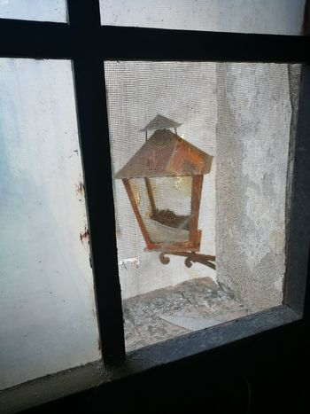 Window Indoors  Photography Themes Strange Things Built Structure Shooting Photos Forgetplaces Abandonedbuilding Abandoned Places Photographing Building Exterior Architecture Lampe Oldlamp