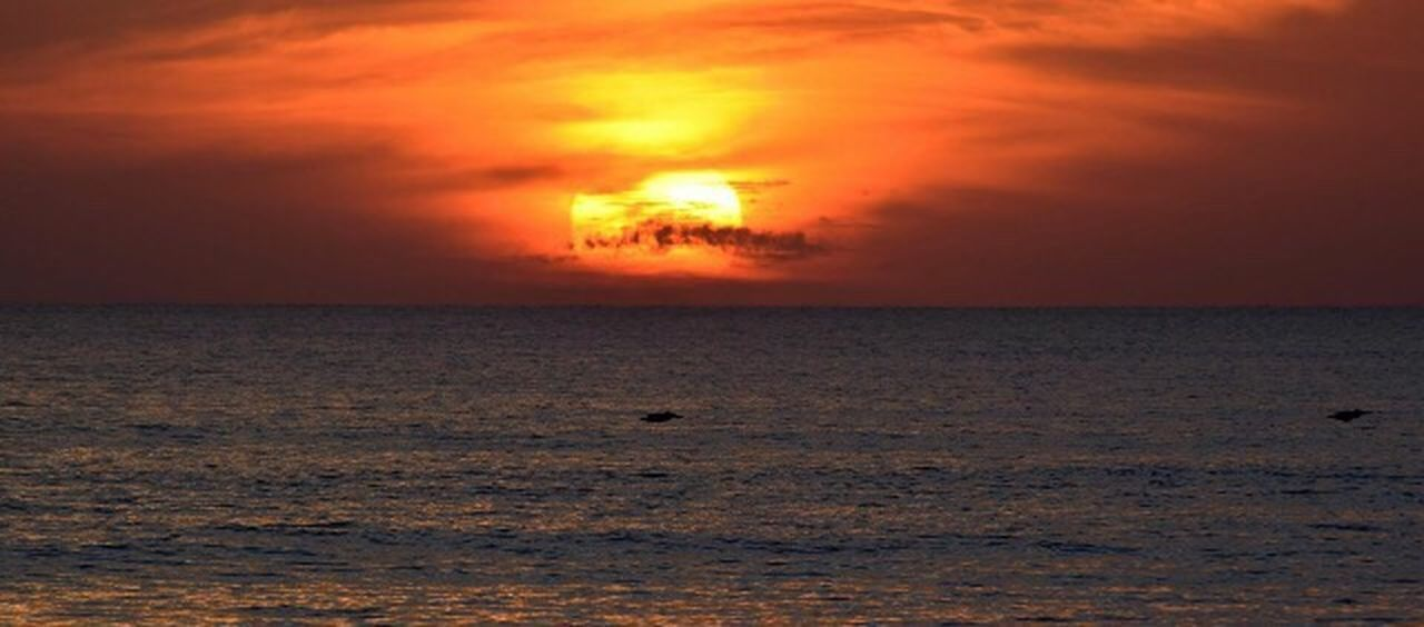 Sunset Orange Color Sea Horizon Over Water Scenics Tranquility Power Nature Beauty In Nature Lieblingsteil Lieblingsteil