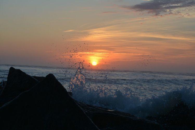 Sunrise Waves Good Morning Vilano Beach