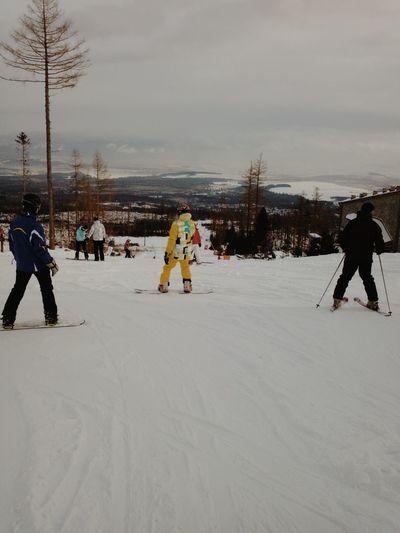 Slowakia . Snowboarding Winter