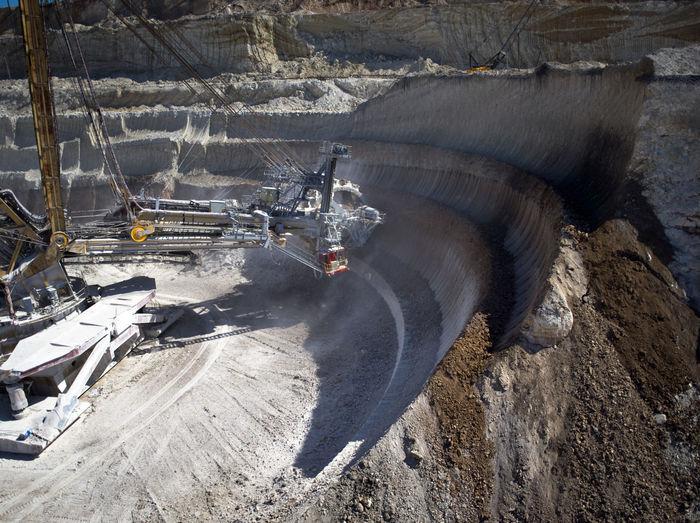 Bucket-wheel excavator at open-pit mine
