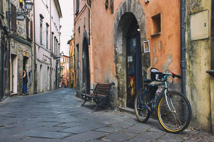 Architecture Bicycle Bolsena Building Exterior Built Structure City Day Land Vehicle Mode Of Transport No People Outdoors Stationary Transportation