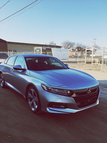 Accord 💙 #EyeEmNewHere Mode Of Transportation Motor Vehicle Sky Land Vehicle Clear Sky Outdoors Blue Day