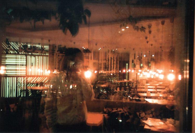 35mm Film Film Photography Illuminated Men Mju2 Mjuii Multiexposure  Night Olympus One Person Standing Visual Creativity