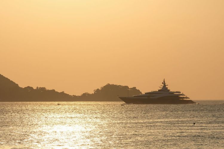 Sunset Sea Water Silhouette Nature Outdoors No People Nautical Vessel Scenics Beauty In Nature Day Sky