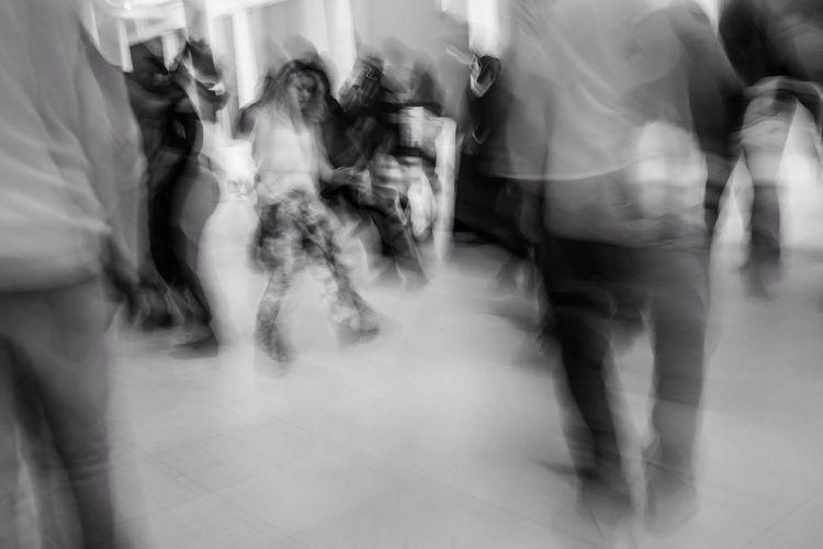 Silent Disco. Pittsburgh, 2016. Dancing Silent Disco Long Exposure Pittsburgh Abstract