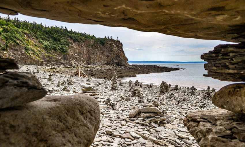 New Brunswick, Canada Beach Beauty In Nature Day Mountain Nature No People Outdoors Rock - Object Rock Formation Scenics Sea Sky Tranquil Scene Tranquility Water