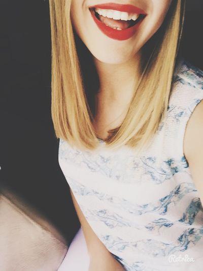 Redlips Lips #love #smile #pink #cute #pretty Lipstick Hair Cut EyeEm Türkiye