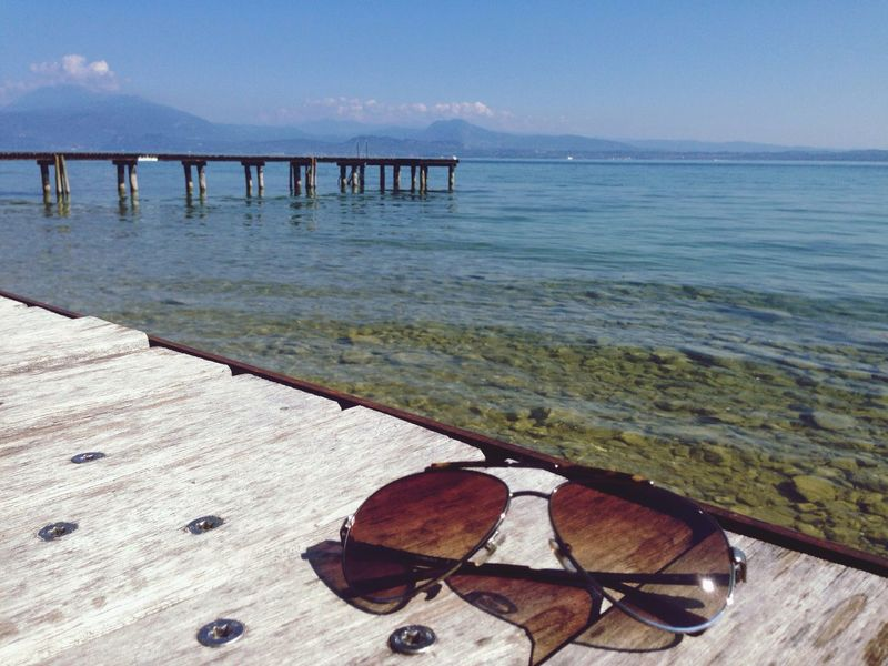 Late Summer Colours Sirmione Lake Garda Deck Jetty Sunglasses Water Lombardia Sommergefühle