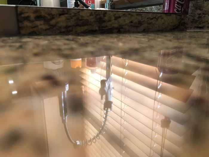 Kitchen Art Reflection Kitchen Indoor Kitchen Sink Faucet Granite Countertop