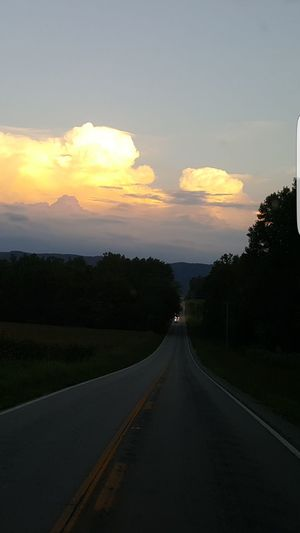 No Filter Sothern Beauty Sunset In The South Moutains Why Be Anywhere Else? Check This Out Sunset The Way Forward Diminishing Perspective Road Landscape Sky Tranquil Scene Cloud - Sky Country Road Mountain Outdoors Omg I Love Capturing My Life!!!!!!!!!!