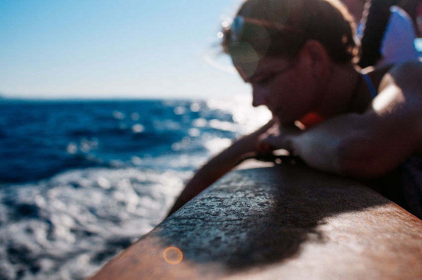 Done That. Clear Sky Close-up Day Holding Horizon Over Water Human Body Part Human Hand Leisure Activity Lifestyles Men Nature Ocean One Person Outdoors People Real People Sea Sky Sunlight Water