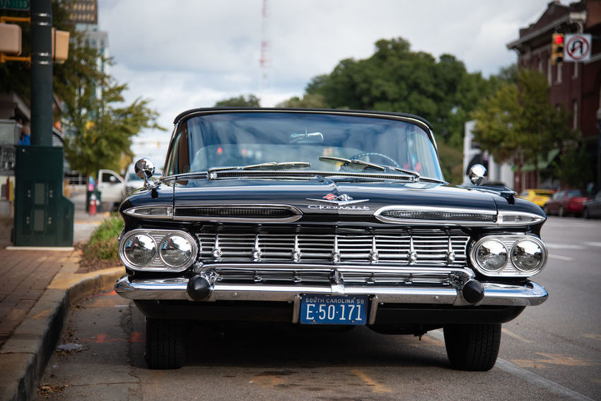 Car Motor Vehicle City Vintage Car Day Street Focus On Foreground Outdoors Land Vehicle Mode Of Transportation Transportation Retro Styled CHEVROLET IMPALA Oldtimer Special Cars