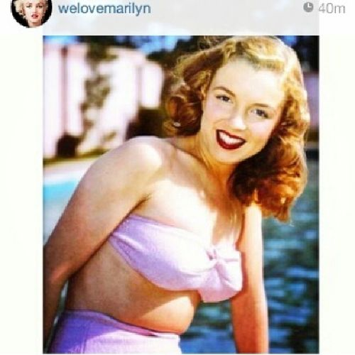 """Young people calling Marilynmonroe """"fat"""" in the instagram comments on this account, make me sad for our future. NORMAJEAN Notfatatall Whatiswrongwiththisworld beautiful mostbeautiful goodbyeNormaJean womenhaveallshapes curves 1950s glamour peoplearesad marilyn bleakfuture"""